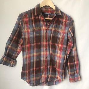 Ralph Lauren blue label size 2 plaid shirt